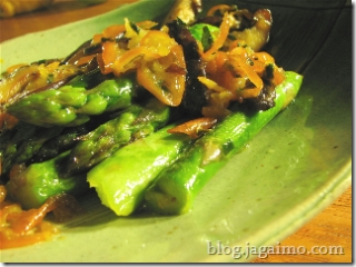 Asparagus with kumquat butter