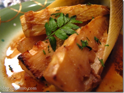 Grilled takenoko, bamboo shoots