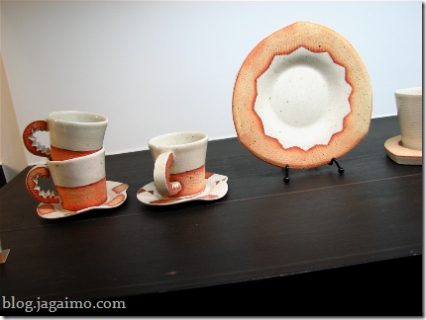 Plate and teacups