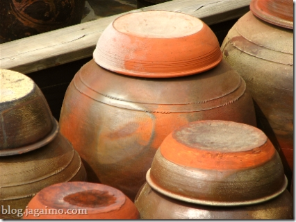Jeju Island unglazed fermentation jars
