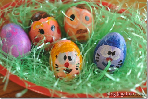 Easter eggs, made by adults
