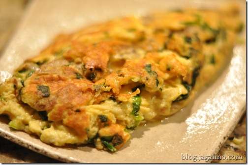 Ramp and morel omelet