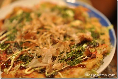 Pork loin okonomiyaki with katsuo-bushi