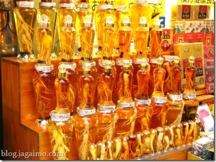 Ginseng infusions, Namdaemun market, seoul