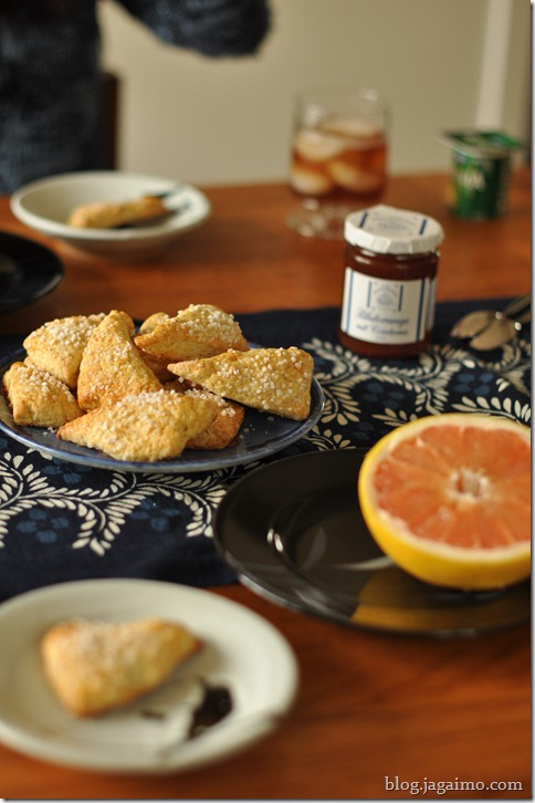 Orange scones, Harbor Island grapefruit, blood orange jam