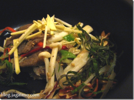 "Kelp-based vegetarian ""steamed beef"" dish"