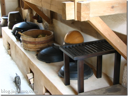 Old-Style kitchen, Namsangol Village, Seoul, Korea