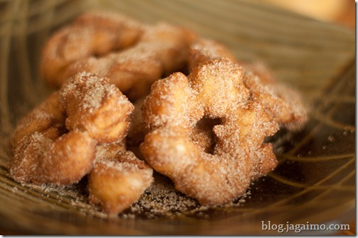Crullers with Cinammon Sugar