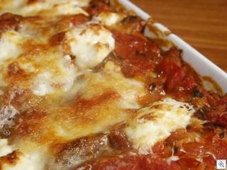Manicotti in the pan