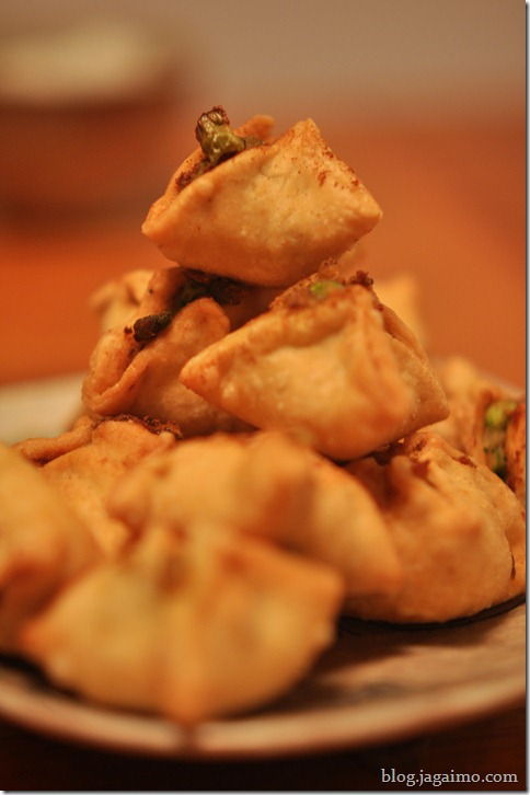 Mini samosas, night one