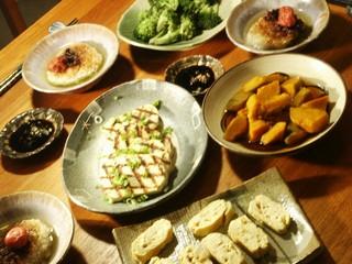 Yaki onigiri dinner